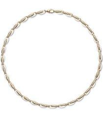 ada white enamel necklace