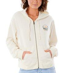 rip curl juniors' coastal-search zip hoodie