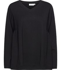 delsa t-shirts & tops long-sleeved zwart masai