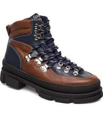 hiking mix shoes boots ankle boots ankle boot - flat ganni
