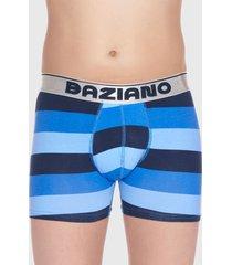 boxer algodón lycra franja azul baziani