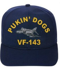 vf-143 pukin dogs  f-4 phantom  direct embroidered cap    new