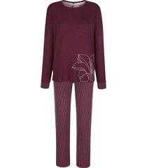 pyjama mona bordeaux::ecru
