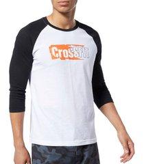 t-shirt lange mouw reebok sport crossfit sticker rip raglan tee ec1488