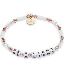 women's little words project be a light beaded stretch bracelet
