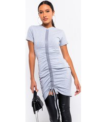 akira always classy short sleeve ruched mini dress