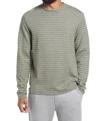 men's vince feeder stripe long sleeve t-shirt, size small - green
