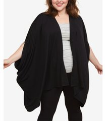 motherhood maternity plus size draped nursing cardigan