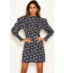ax paris women's ditsy floral puff sleeve skater dress