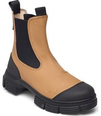 recycled rubber regnstövlar skor brun ganni