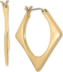 alfani gold-tone tilted open square hoop earrings, created for macy's