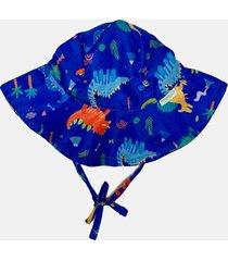 chapã©u com  solar fpu 50+ ecoeplay dinossauro azul - azul marinho/multicolorido - menino - dafiti