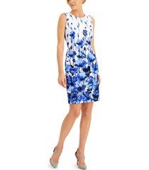 kasper petite floral border-print dress