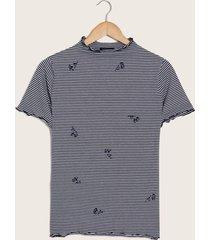 camiseta cerezas azul l