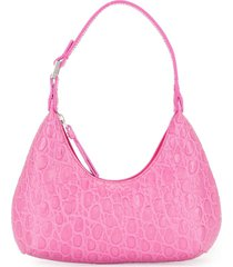 by far crocodile-effect shoulder bag - pink