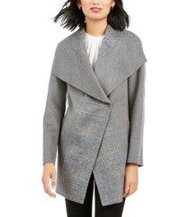 tahari wing-collar coat