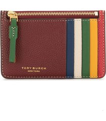 tory burch perry colour-block card case - multicolour