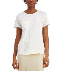 alfani mixed media pocket top, created for macy's