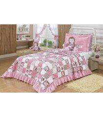 cobre leito antonella solteiro 03 peças - rosê bordados ricardo
