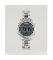 relógio digital condor masculino - cobj3463ab2k prateado