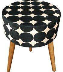 banqueta renata sader redonda lohan preta 37x37x50cm - preto - dafiti