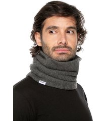 bufanda cuello tejido tubular unisex leone-gris oscuro