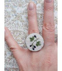 jeżyny - haftowany pierścionek