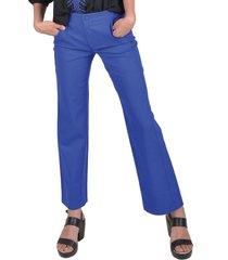 pantalon liso azul alexandra cid