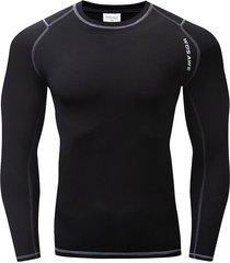 hombres mujeres ropa interior térmica capa base polar invierno camisetas de manga larga gris y negro