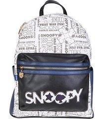 mochila escolar infantil luxcel snoopy feminina - feminino