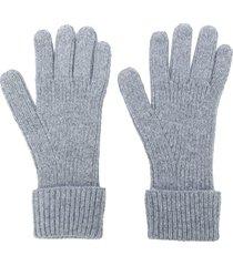 n.peal ribbed gloves - grey