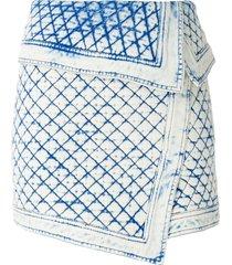 andrea bogosian sandovia jeans skirt - blue
