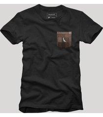 camiseta bolso xadrez quadrilha reserva preto