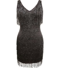 j kara beaded chiffon dress