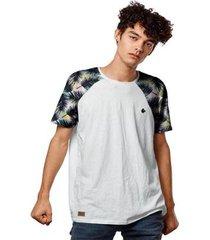 camiseta raglan tropical color beach masculina - masculino