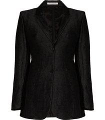 cecilie bahnsen kristine hammered silk-jacquard blazer - black