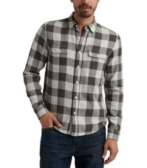 lucky brand men's buffalo plaid flannel shirt