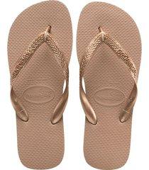 sandalias chanclas havaianas para mujer oro rosa top