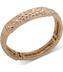 anne klein basket weave textured stretch bracelet