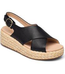 kimmei cross sandalette med klack espadrilles svart clarks