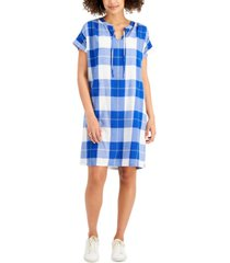 style & co petite plaid dress, created for macy's