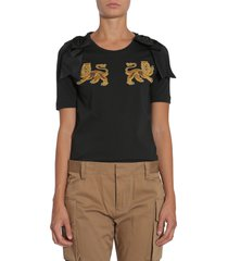 dsquared2 t-shirt with bows and patches