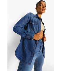 western spijkerblouse, mid blue