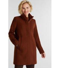 abrigo de lana con cuello alto marrón esprit