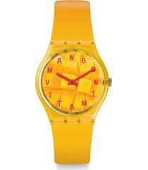 reloj swatch unisex coeur de mangue/go119 - naranja