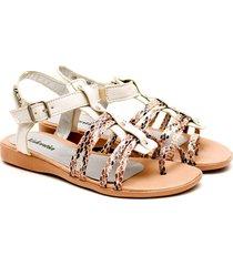 sandalia de cuero natural valentia calzados vilna