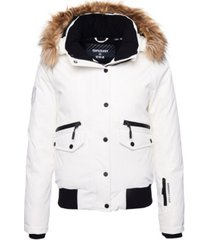 superdry women's everest down snow bomber jacket
