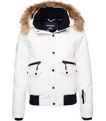 superdry women's everest down snow bomber jacket