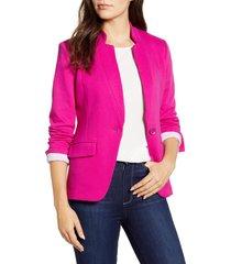 women's gibson notch collar cotton blend blazer, size xx-large - pink