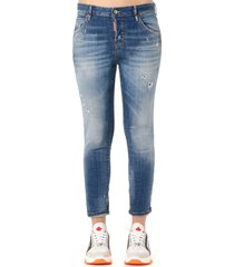 dsquared2 cloudy distressed skinny jeans